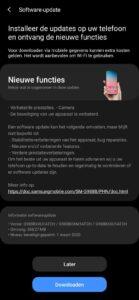 Samsung Galaxy S20-update