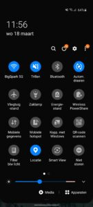 Samsung Galaxy S20-interface