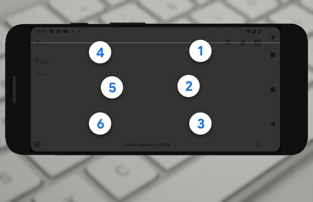 Google maakt brailletoetsenbord beschikbaar voor elk smartphonescherm