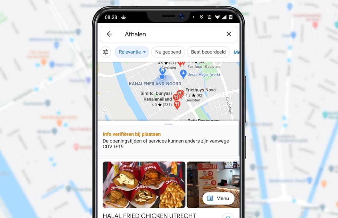 eten bezorgen google maps uitg