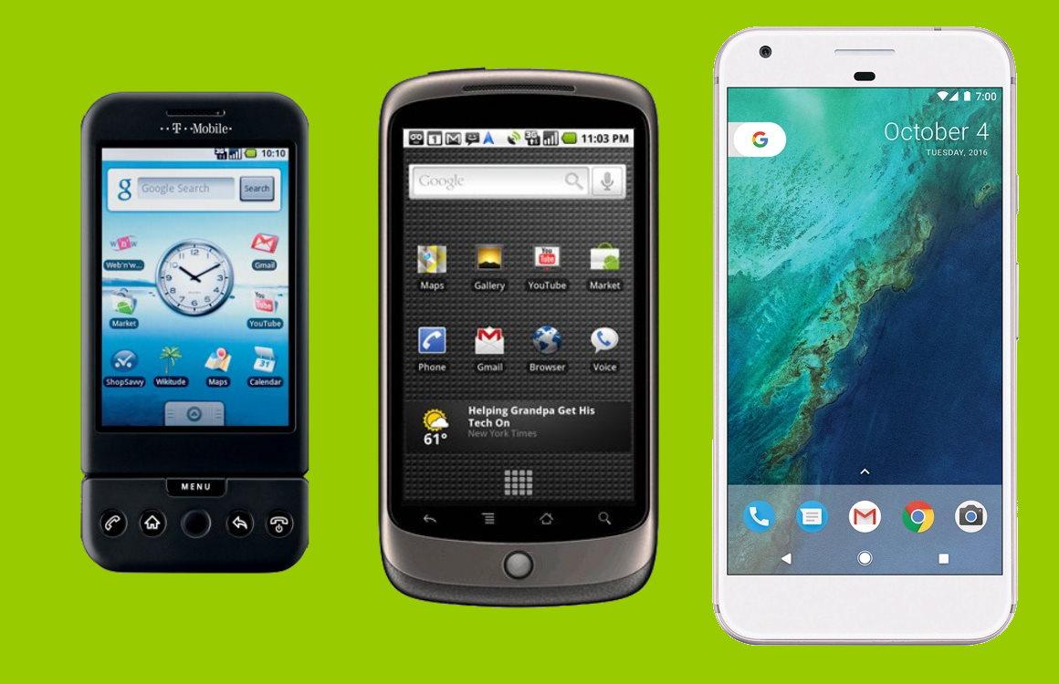 G1, Nexus en Pixel: de geschiedenis van Googles smartphones