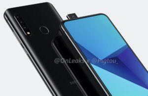samsungs-smartphone met uitschuifbare selfiecamera