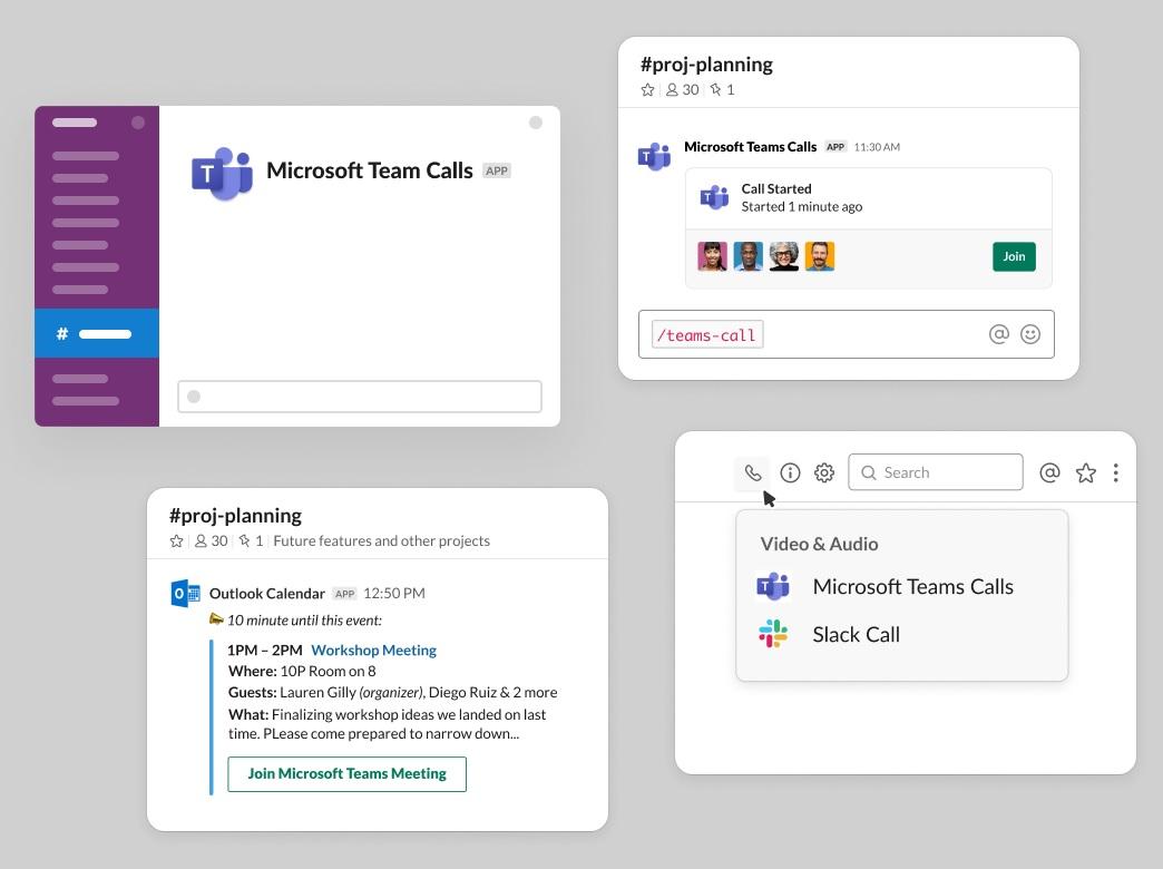 Slack en Microsoft Teams-integratie