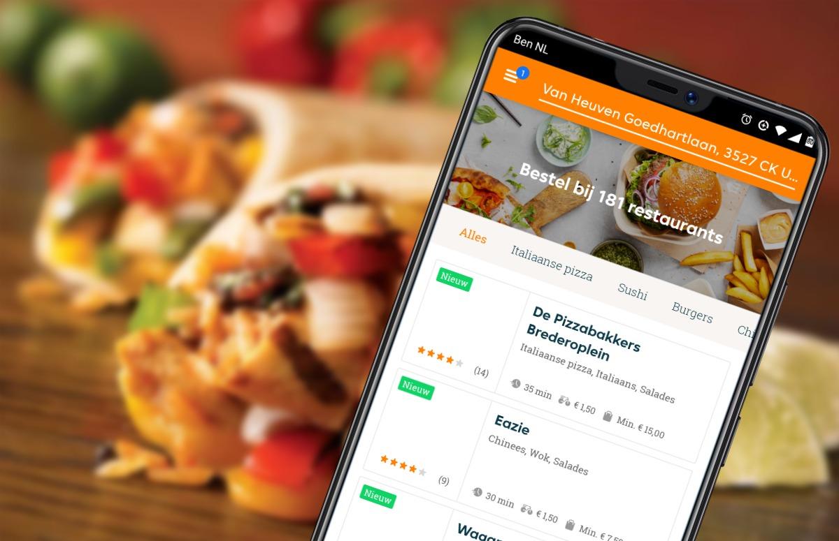 Met deze 4 bezorg-apps heb je razendsnel een lekkere maaltijd in huis
