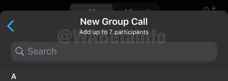 Whatsapp videobellen acht mensen