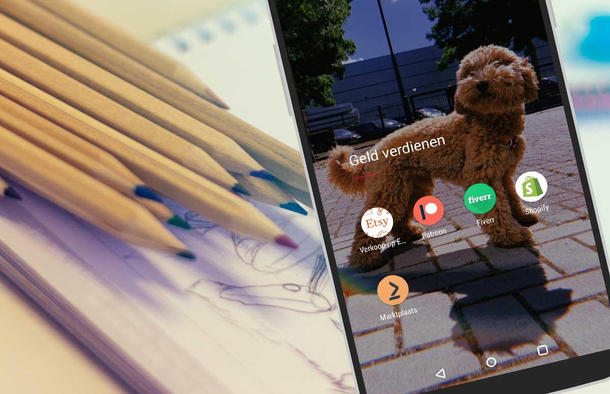 Verdien geld met je creativiteit via deze 5 apps