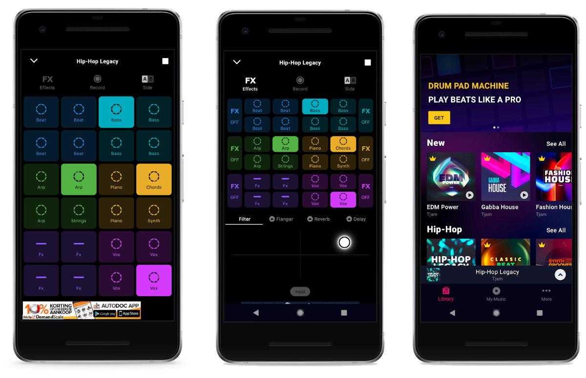 Groovepad muziek-app voor android