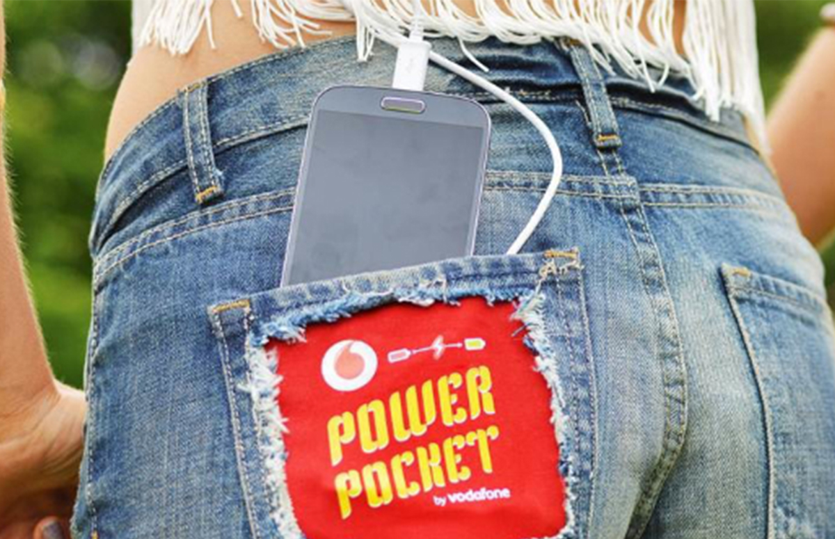 Power Pocket Vodafone 5 creatieve oplaadmethodes