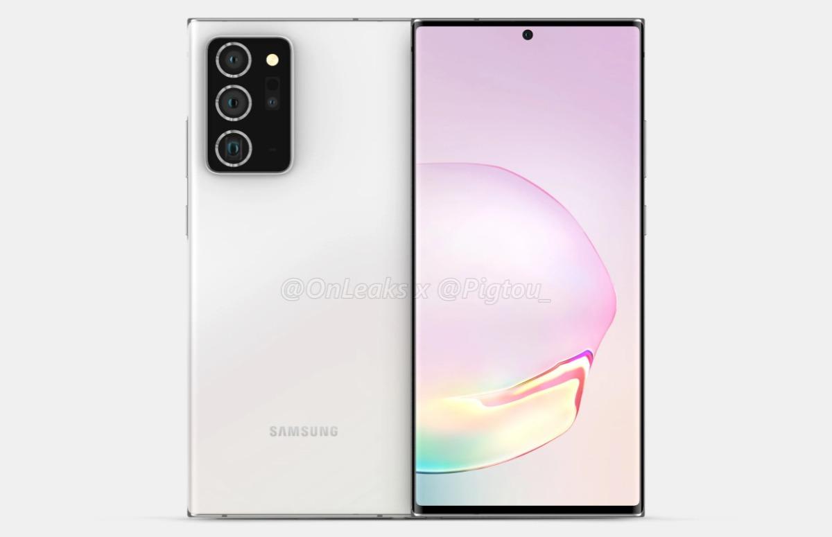 'Samsung Galaxy Note 20 Plus wordt groter dan voorganger en heeft forse camera's'