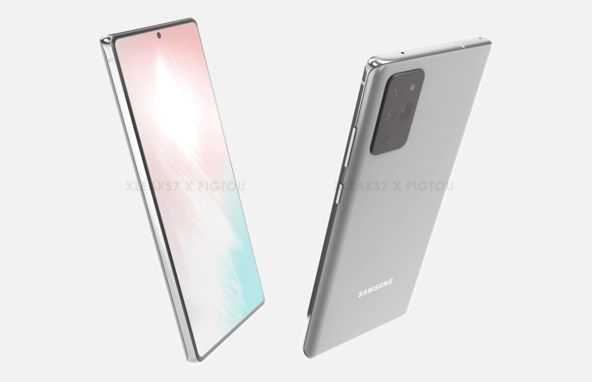 Renders: Zo ziet de Samsung Galaxy Note 20 er misschien uit