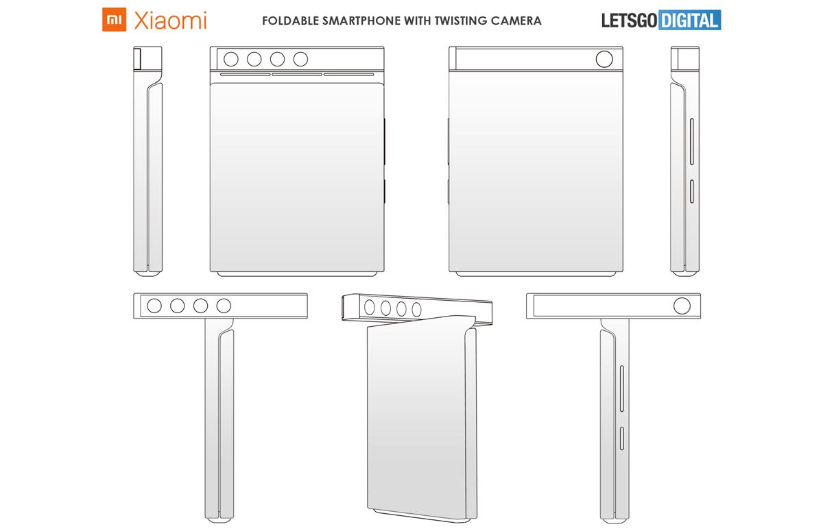 Xiaomi werkt mogelijk aan vouwbare telefoon met roterende camera
