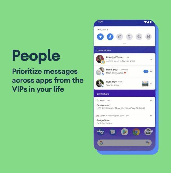 android 11 functies belangrijke berichten