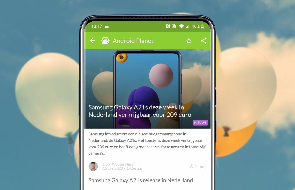 Android-nieuws #25: Samsung Galaxy A21s te koop en videobellen in Gmail