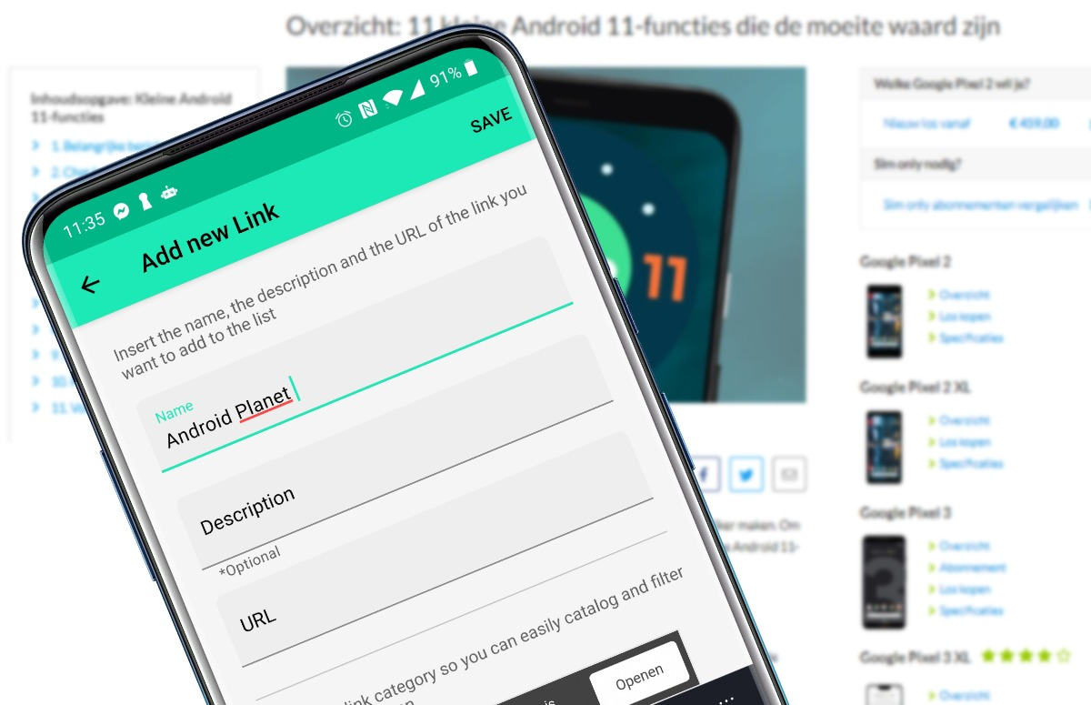 beste android-apps van de week linkeep