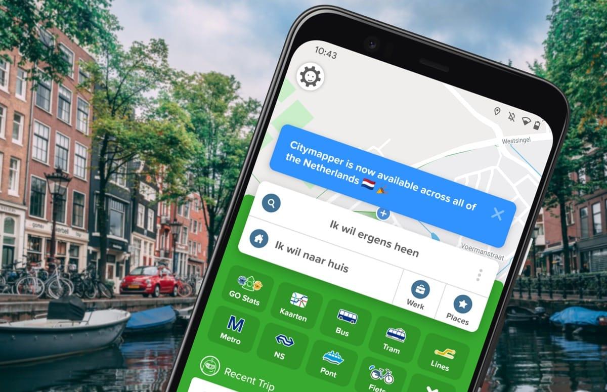 Fijne ov-app Citymapper voor Android werkt nu in heel Nederland
