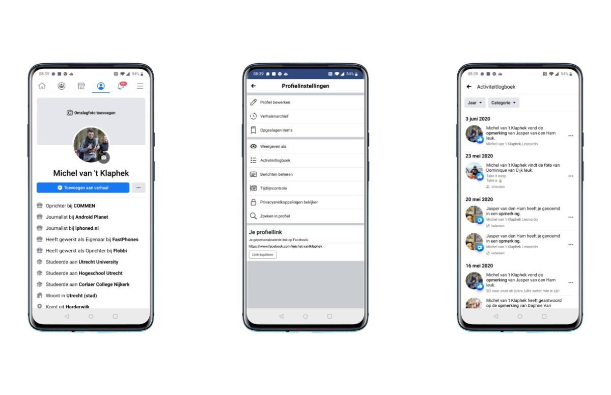 facebook-berichten verwijderen screenshots
