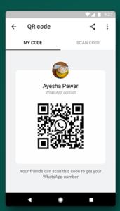 Whatsapp-update toevoegen qr-code