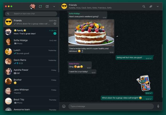 Whatsapp-update web donkere modus