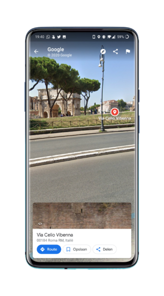 Google Maps vakantie streetview