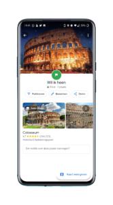 Google Maps vakantie opslaan