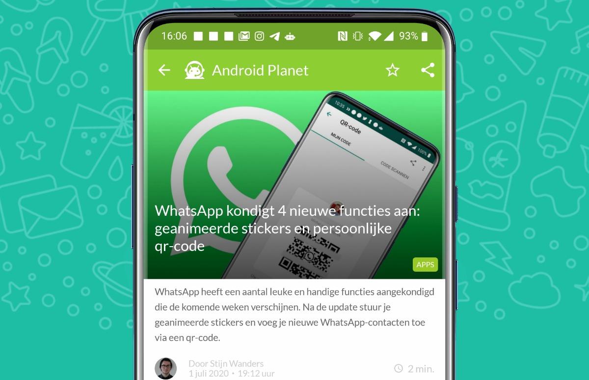 Android-nieuws #27: Forse update voor WhatsApp en Ziggo kijken op Android TV