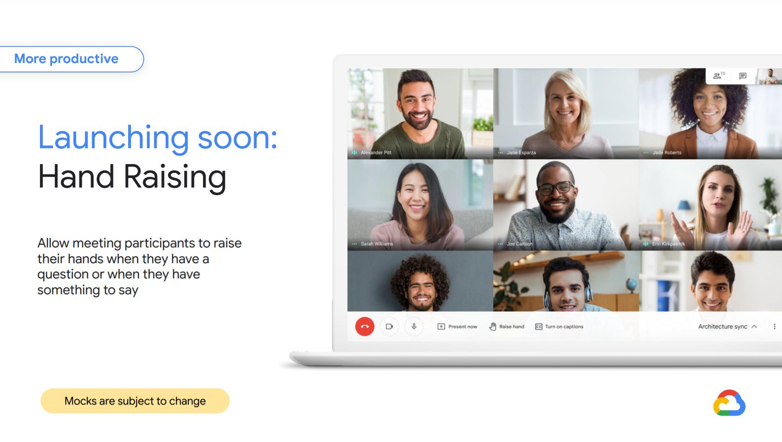 Gmail update Google Meet Hand Raising
