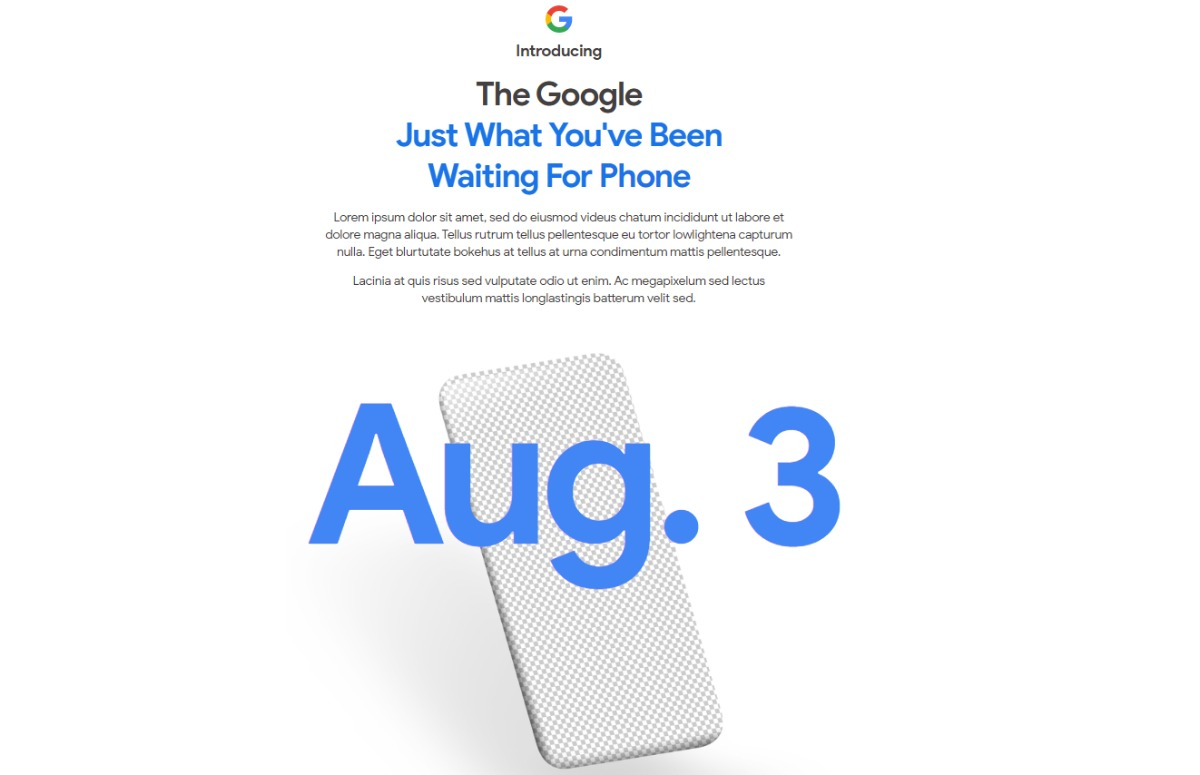 Google Pixel 4a presentatie