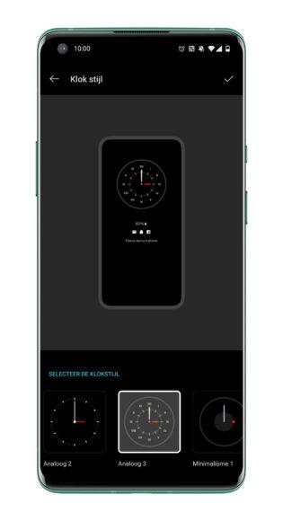 OnePlus 8 Pro klokstijl