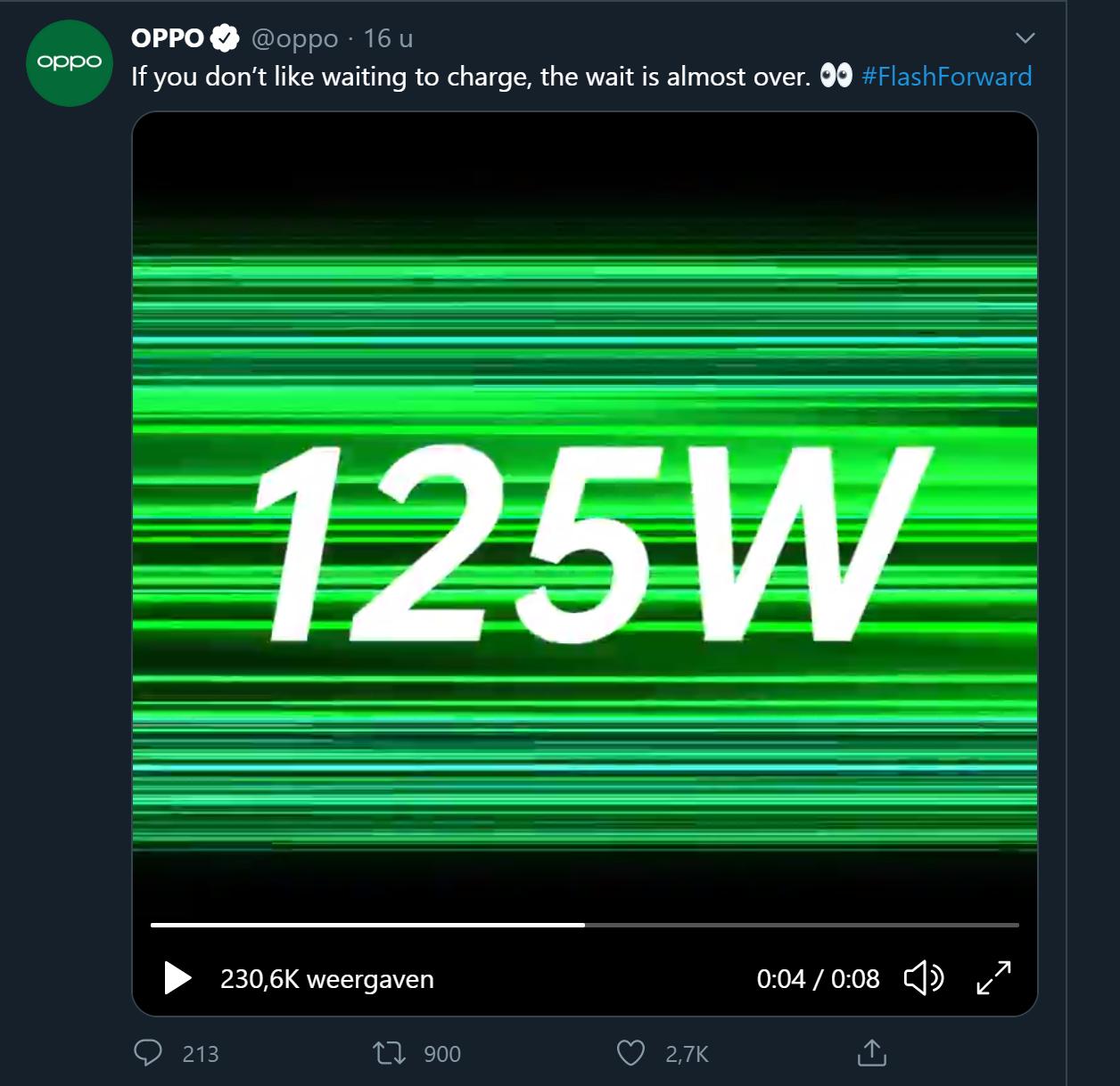 oppo 125 watt