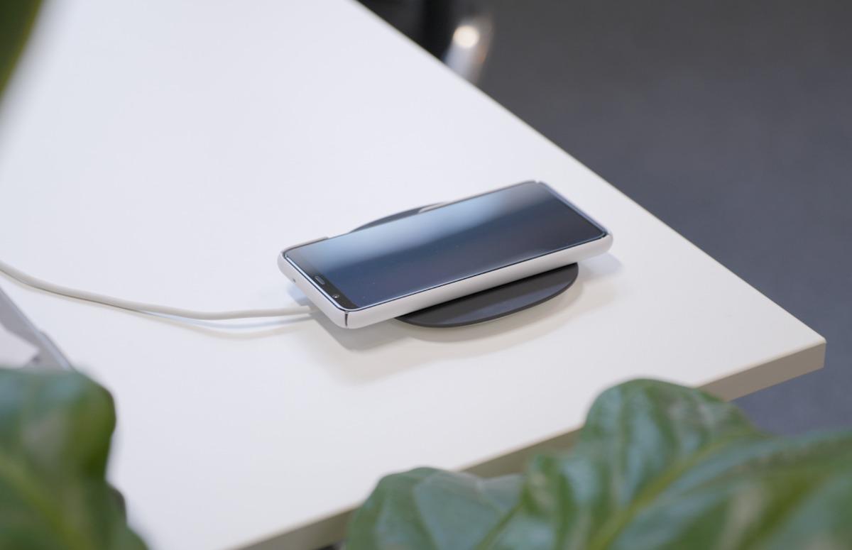 Smartphone draadloos opladen screen 1