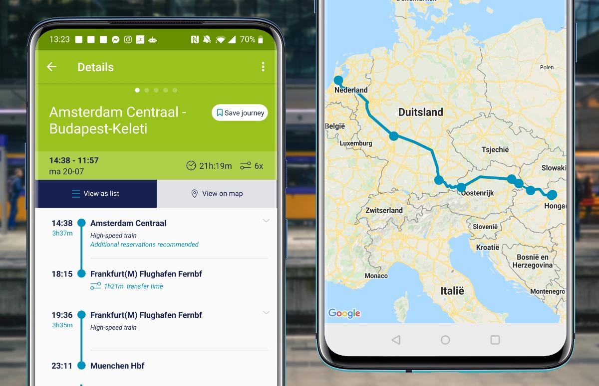 Trein-app Interrail
