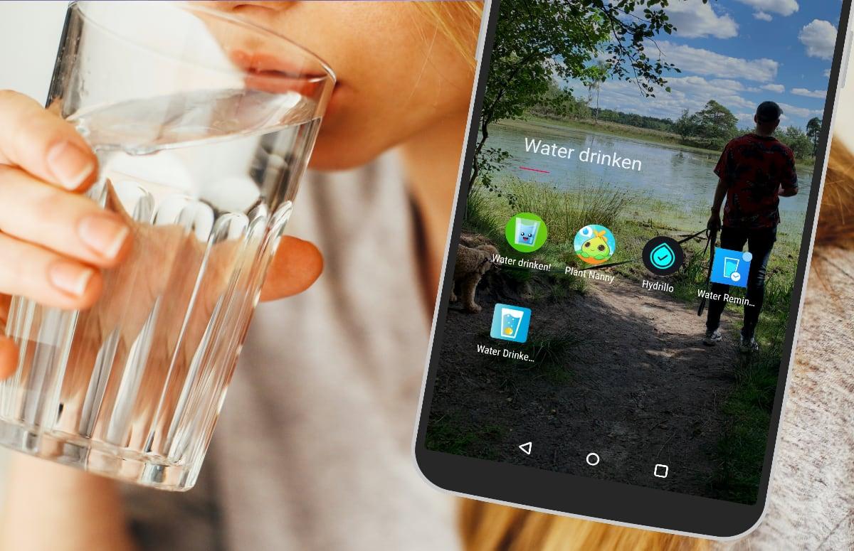 Met deze 6 apps zorg je dat je meer water drinkt