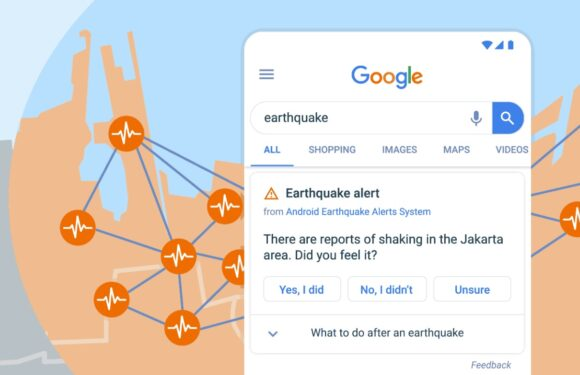 Google aardbeving detectiesysteem