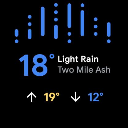 Wear OS weer-app