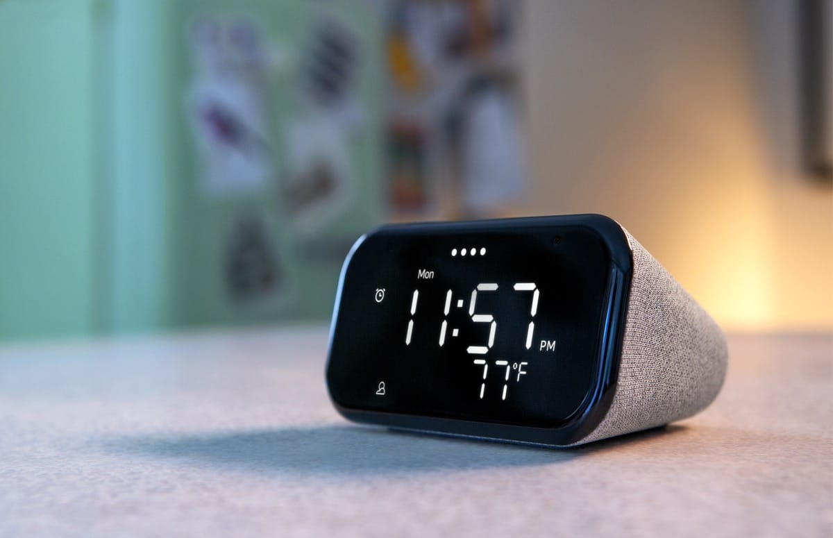 Lenovo Smart Clock Essential: slim klokje met Google Assistent