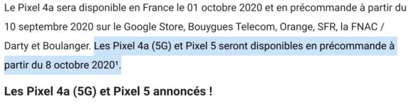 Google Pixel 5: 8 oktober