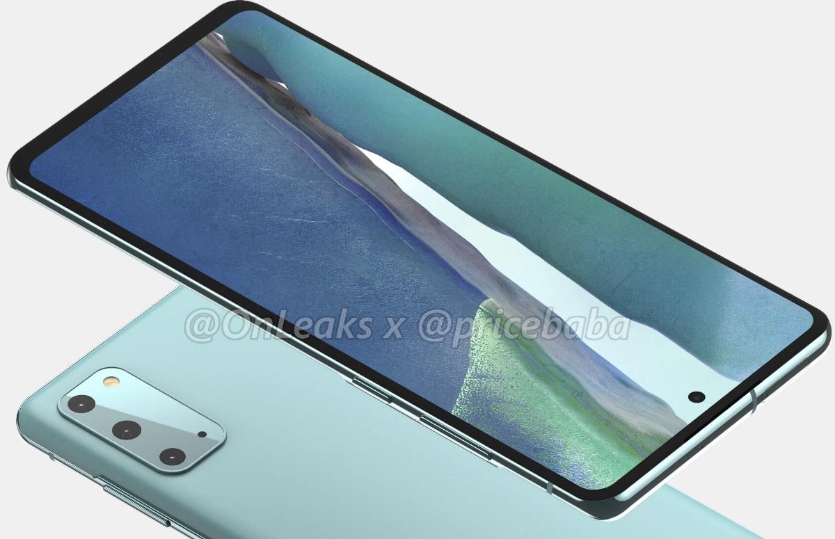 'Renders tonen Samsung Galaxy S20 Fan Edition vanuit elke hoek' – update