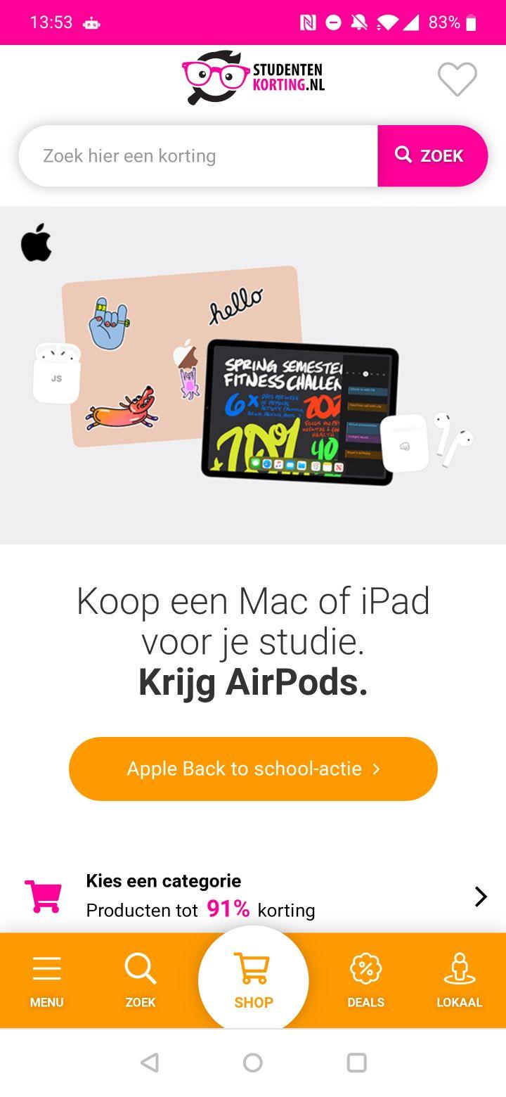 studentenkorting-apps screenshots (1)