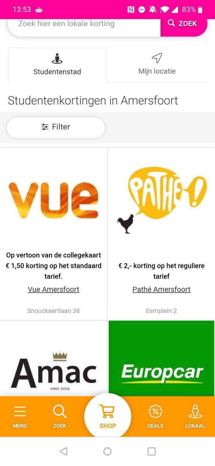 studentenkorting-apps screenshots (2)