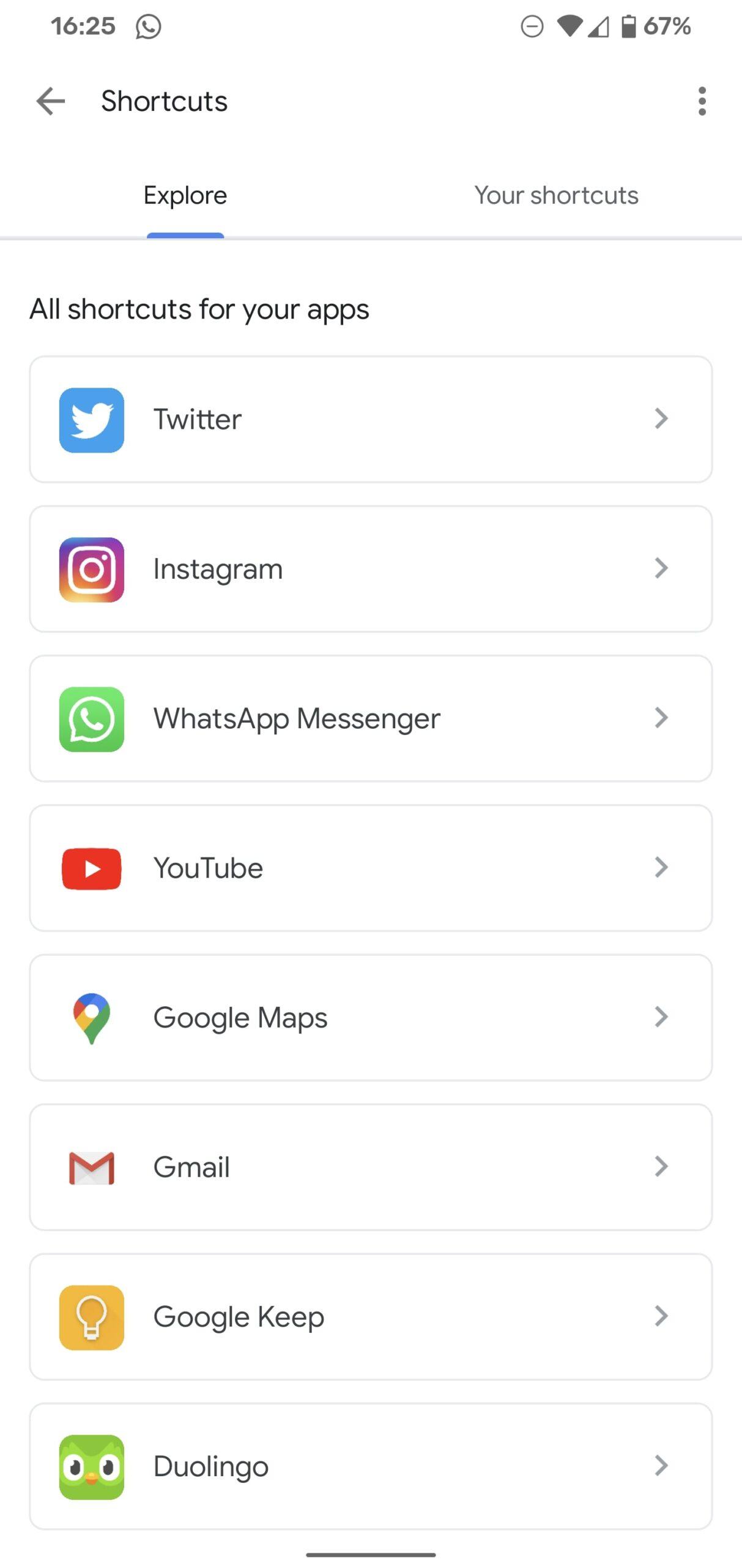 google assistent snelkoppelingen screenshots (1)