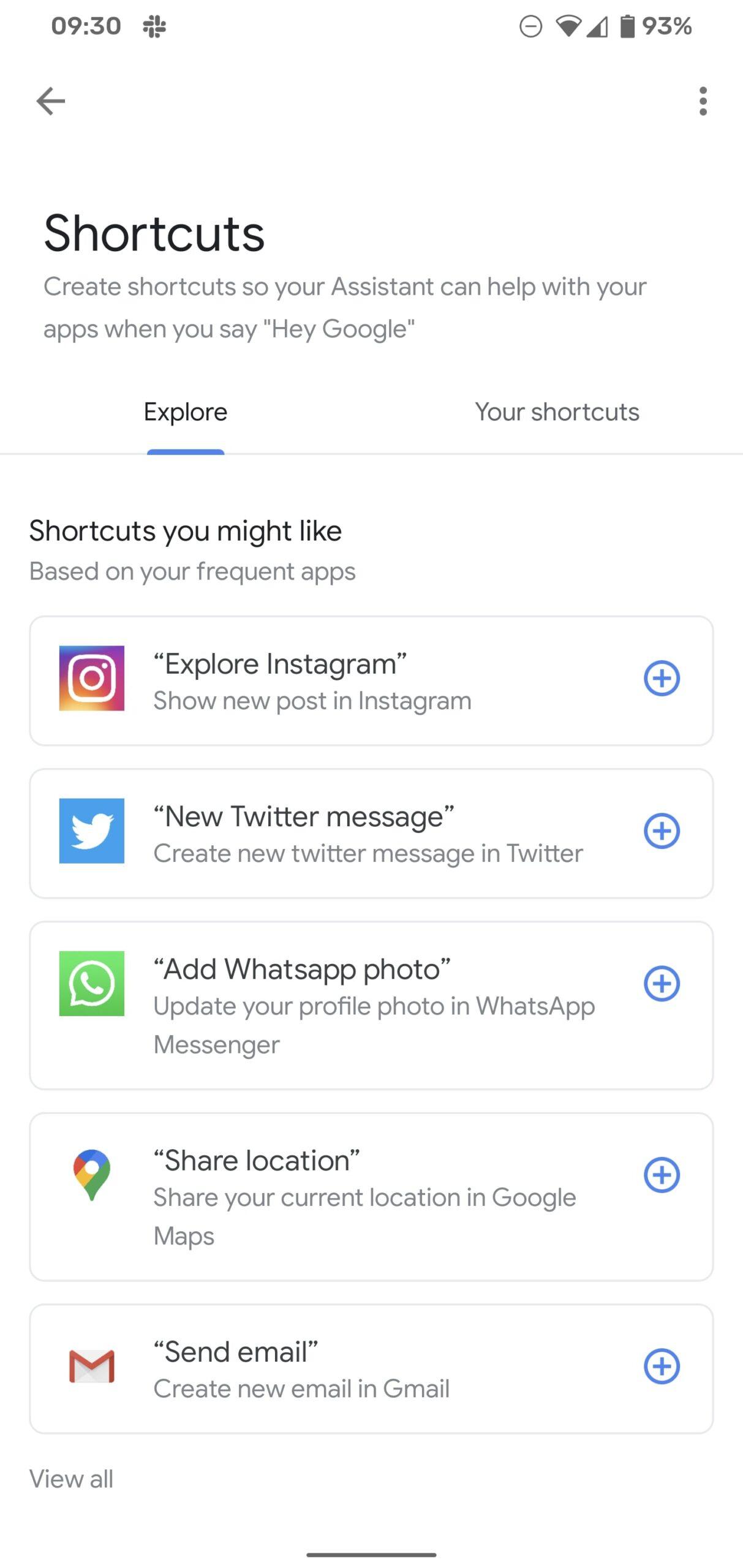 google assistent snelkoppelingen screenshots (2)