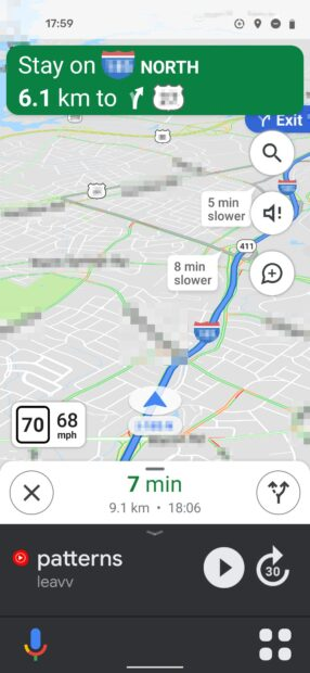 Google Maps automodus