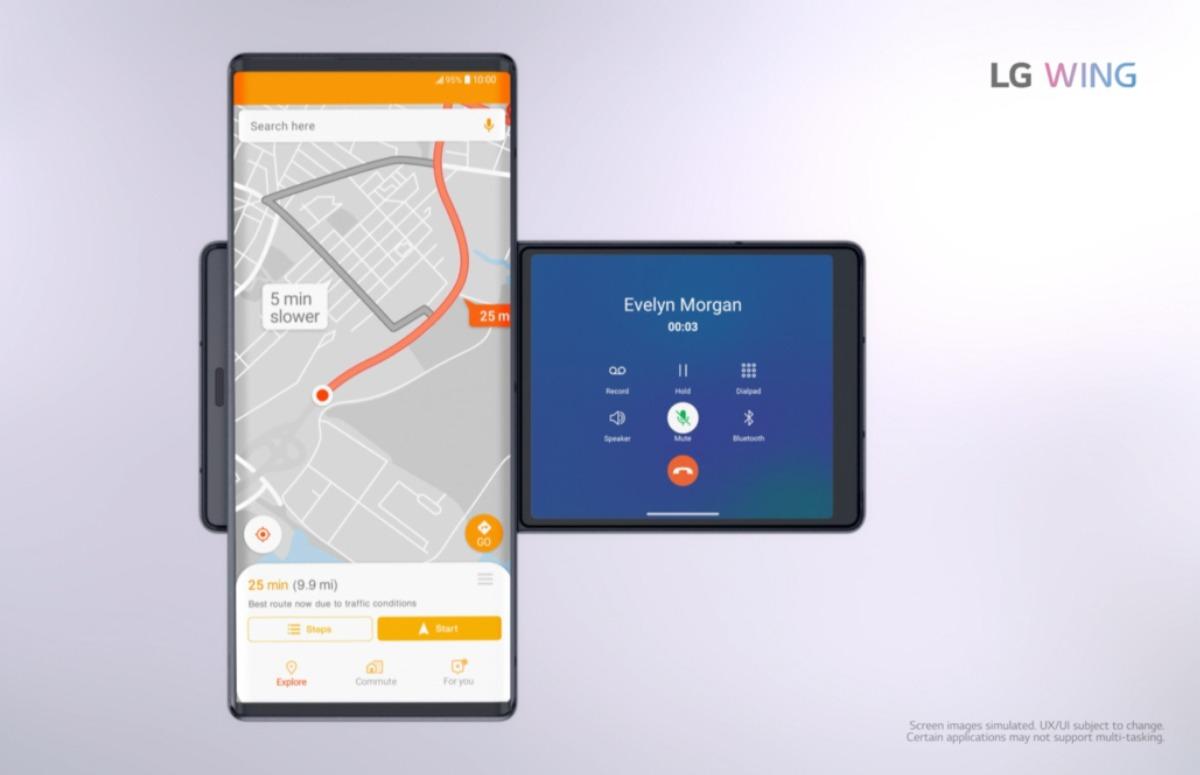 LG onthult smartphone met draaibaar scherm: dit is de LG Wing