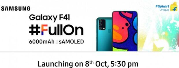 samsung galaxy f41 presentatie