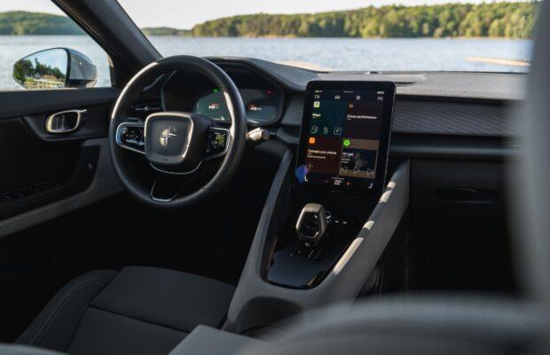 toekomstige android auto volvo polestar 2 gemarkeerd