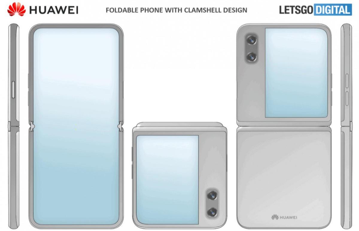 Vermeende klaptelefoon Huawei te zien op gelekte schets