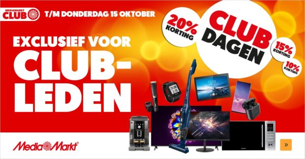 MediaMarkt Clubdagen oktober 2020