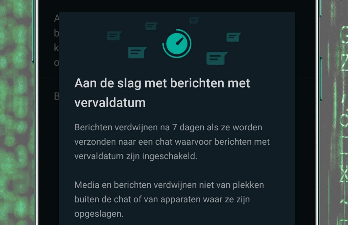 'WhatsApp werkt aan verdwijnende berichten na 24 uur'
