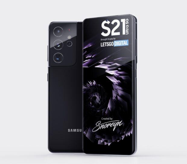 Samsung Galaxy S21 Ultra-render