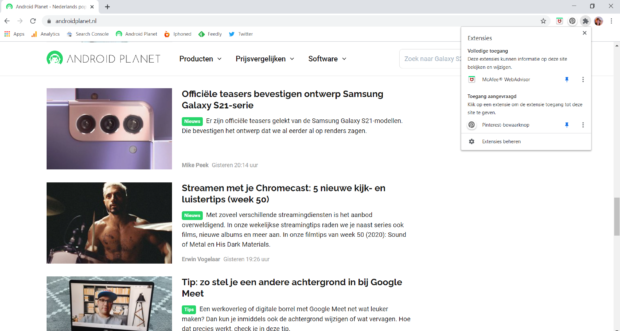 Privacy Google Chrome-extensies